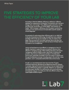 WHITE PAPER: 5 STRATEGIES TO IMPROVE LAB EFFICIENCY