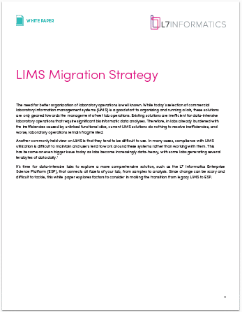 LIMS MIGRATION STRATEGY